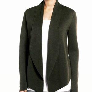 Eileen Fisher silk blend sweater jacket